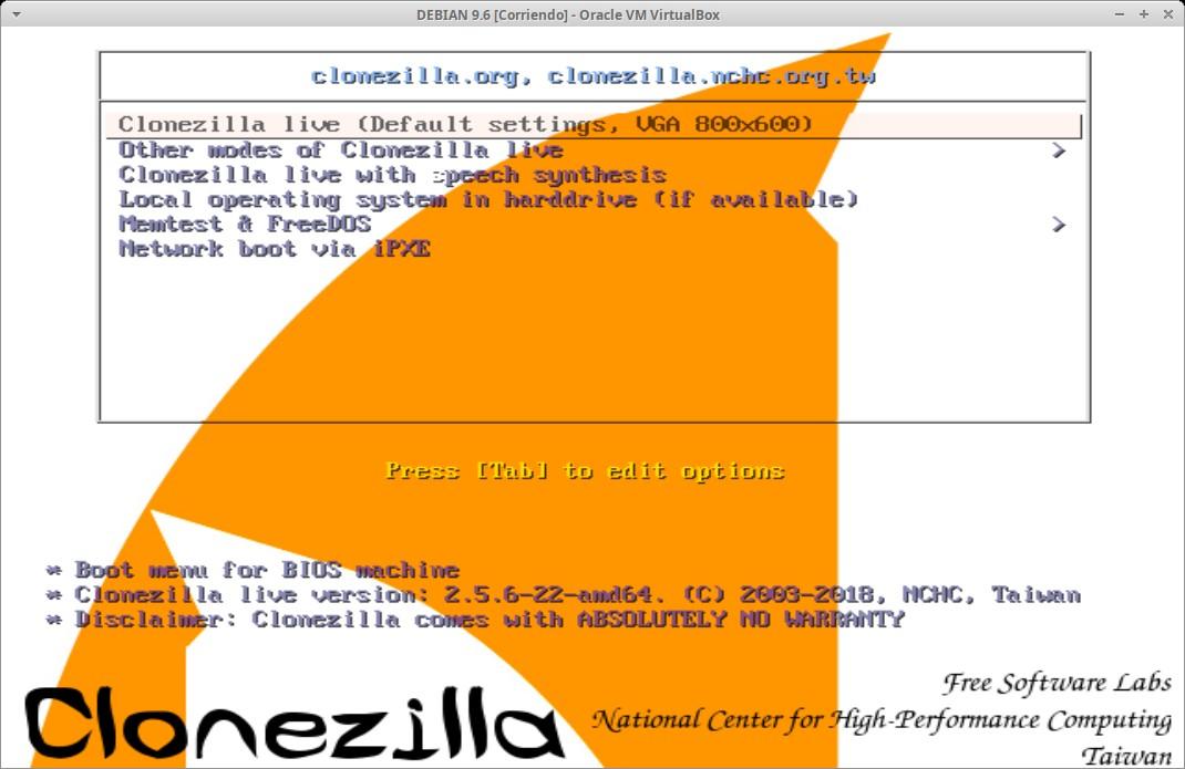 Problema de tabla de particiones al clonar con Clonezilla